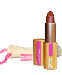 ZAO - Barra de labios satinada - 404: Brun Rouge Nacré