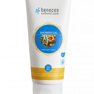 BENECOS - Gel de baño de espino amarillo y naranja